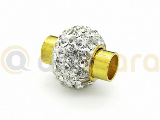 Zapięcie magnet.Shamballa otw.6mm (RZA18B)
