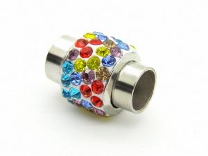 Zapięcie magnet.Shamballa otw.7mm (RZA21N)