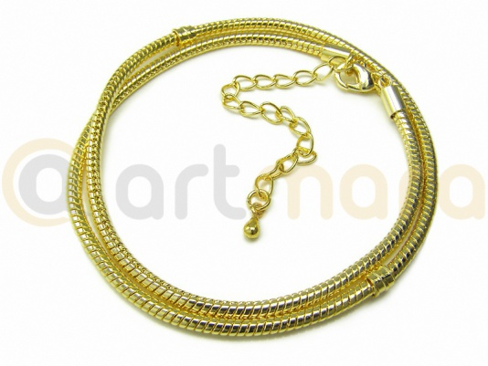 Baza naszyjnika złota karabińczyk 40cm (BAZ37A)