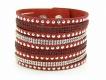 Bransoletka SWAROVSKI glam red (BIZ121E)
