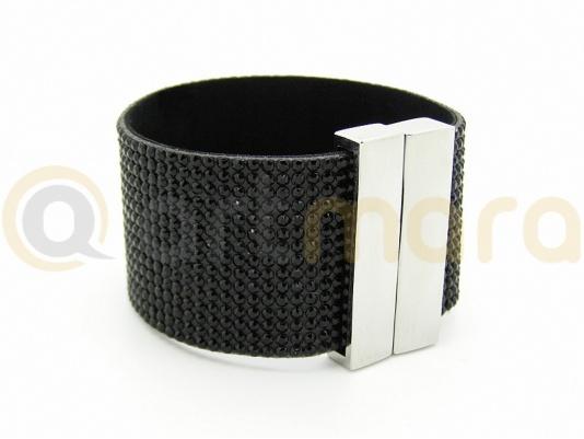 Bransoletka Swarovski 3cm BLACK (BIZ122D)