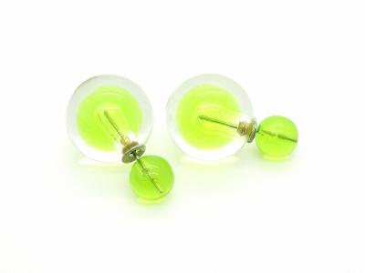 Kolczyki KULE TRIBAL Zielony (BIZ133A)