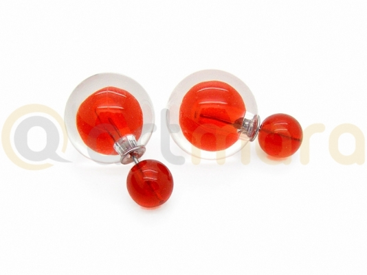 Kolczyki KULE TRIBAL Czerwony (BIZ133D)