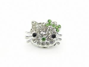 Łącznik kotek Hello Kitty GREEN (RZW111C)