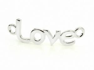 Łącznik LOVE MIŁOŚĆ srebrny (RZW18A)